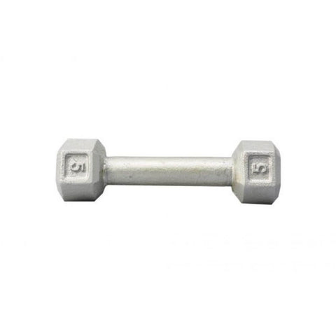 Image of York Barbell 3461 Cast Iron Hex Dumbbells 5lb
