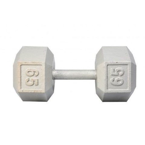 Image of York Barbell 3461 Cast Iron Hex Dumbbells 65lb