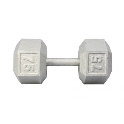 Image of York Barbell 3461 Cast Iron Hex Dumbbells 75lb
