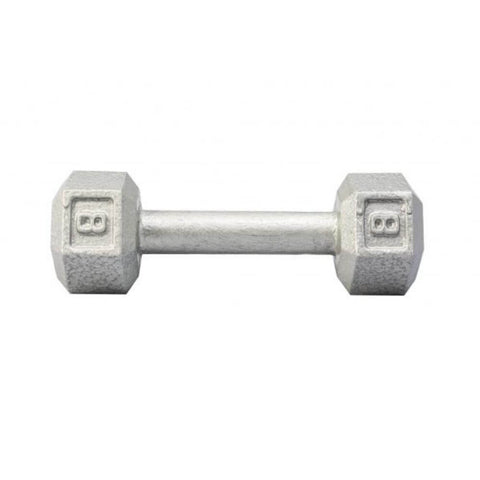 Image of York Barbell 3461 Cast Iron Hex Dumbbells 8lb