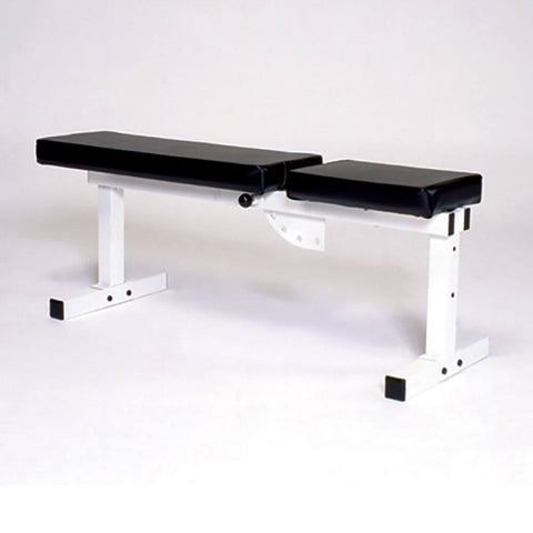 York Barbell 4223 Pro Series 205 FI White Flat Adjustable Incline Bench Press 180 Degree