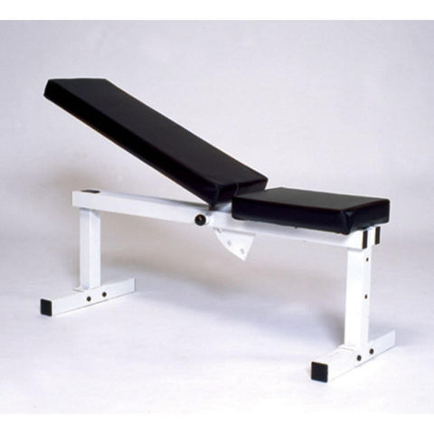 York Barbell 4223 Pro Series 205 FI White Flat Adjustable Incline Bench Press