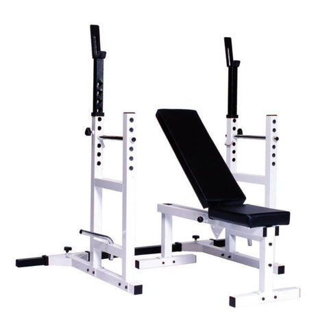 York Barbell 4237 Pro Series 209 With 205 FI Bench plus 204 Cage Attachment