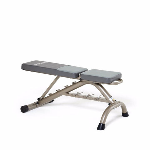 Image of York Barbell 45071 Multi Position Fitness Bench With Fitbell Storage Fully Inclined