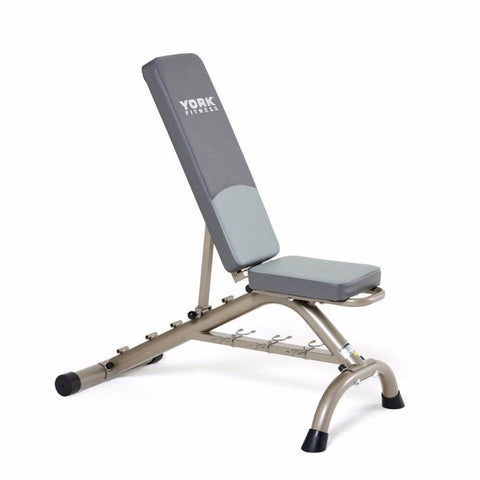 Image of York Barbell 45071 Multi Position Fitness Bench With Fitbell Storage Incline At 2nd level
