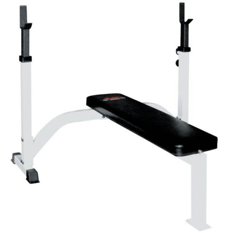 York Barbell 48006 FTS Olympic Fixed Flat Bench With Uprights 3D View