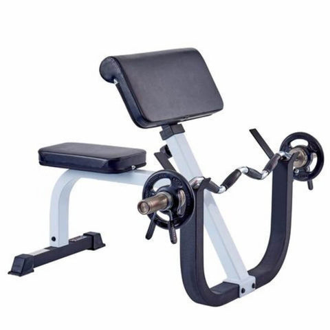 York Barbell 48050 FTS Preacher Curl Bench With Curl Bar