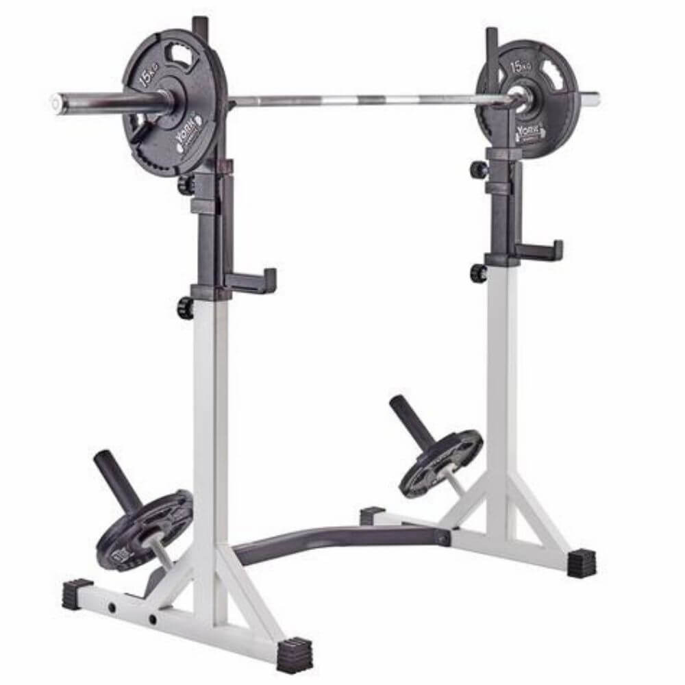 York Barbell 48057 FTS Press Squat Stands High