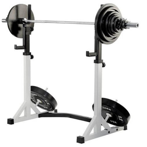York Barbell 48057 FTS Press Squat Stands Medium High