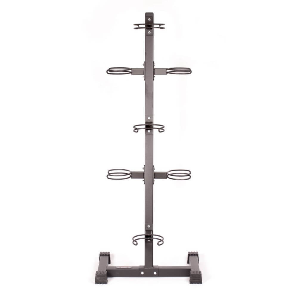 York Barbell 65103 7-Ball Vertical Medicine Ball Storage Rack Front View