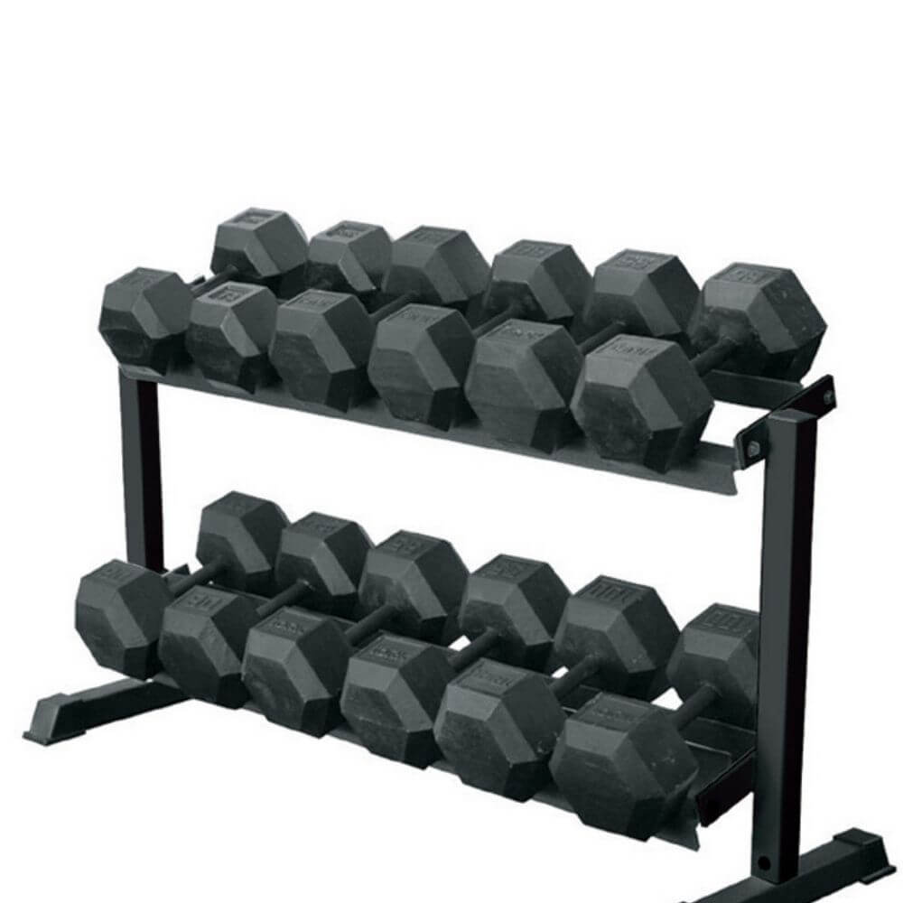 York Barbell 69126 Two Tier Pro-Hex Rack