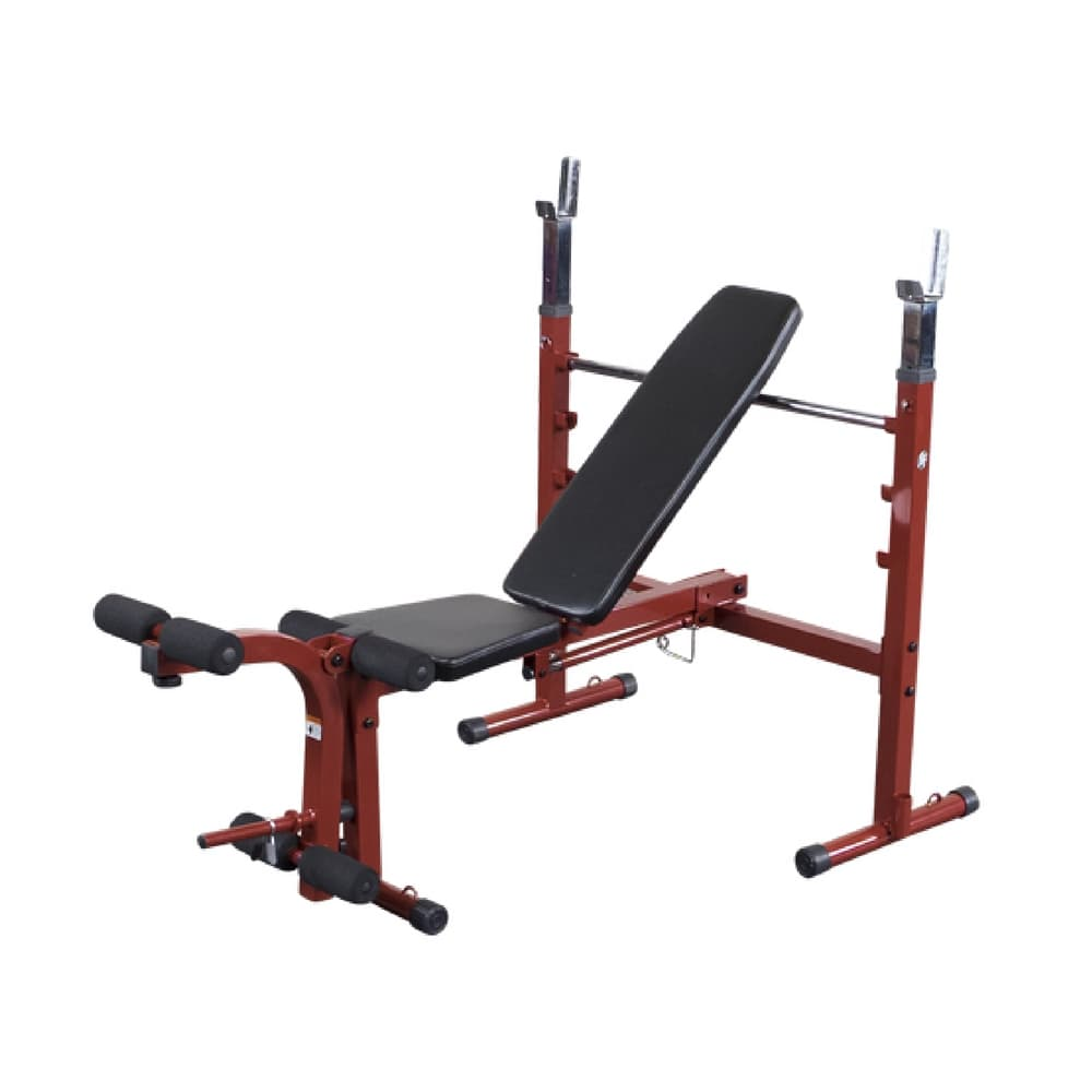 Best Fitness BFOB10 Folding Olympic Bench with Leg Developer 3D View