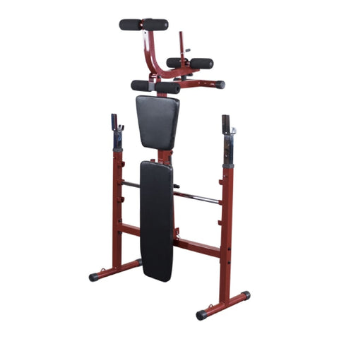 Best Fitness BFOB10 Folding Olympic Bench with Leg Developer Folded