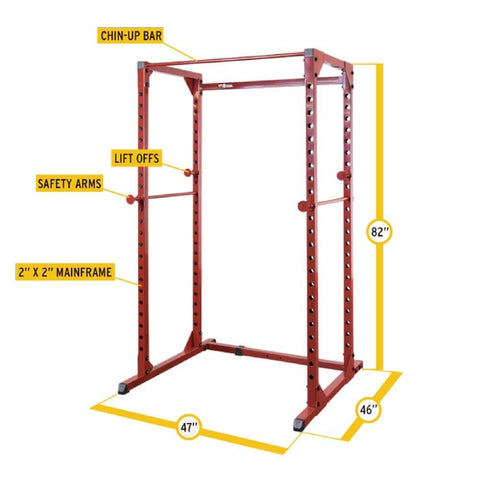 Best Fitness BFPR100 Power Rack Dimensions