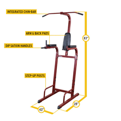 Best Fitness Vertical Knee Raise BFVK10 Dimensions