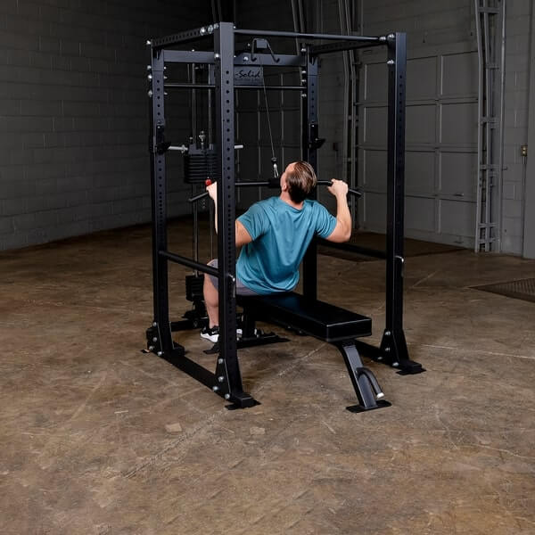 Body-Solid GPR400 Power Rack with GLA400 Lat Pull