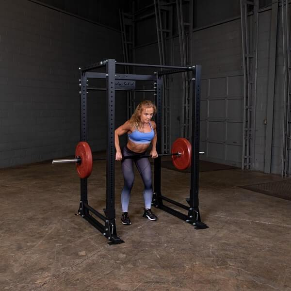 Body-Solid GPR400 Power Rack Female Barbell Row