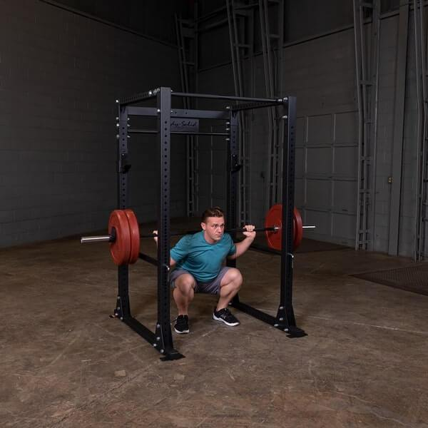 Body-Solid GPR400 Power Rack Male Squat