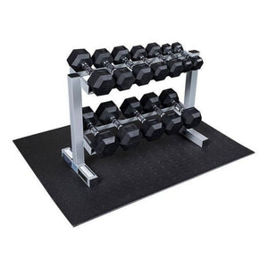 Body-Solid Powerline Rubber Hex Dumbbell 5-30lb Package