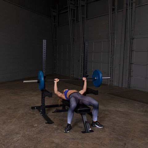 Image of Body-Solid SPR250 Pro Club Squat Stand Female Bench Press