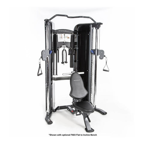 BodyCraft PFT V2 Functional Trainer Optional F603 Bench