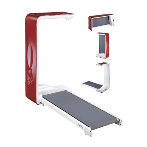 Image of BodyCraft SWT-R SpaceWalker Folding Treadmill Red