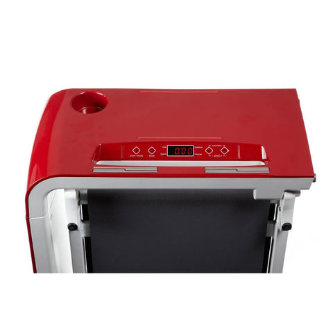 Image of BodyCraft SWT-R SpaceWalker Folding Treadmill Red Display