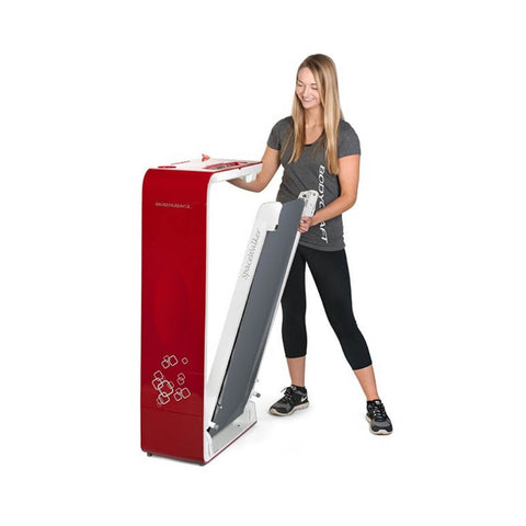 Image of BodyCraft SWT-R SpaceWalker Folding Treadmill Red Folding