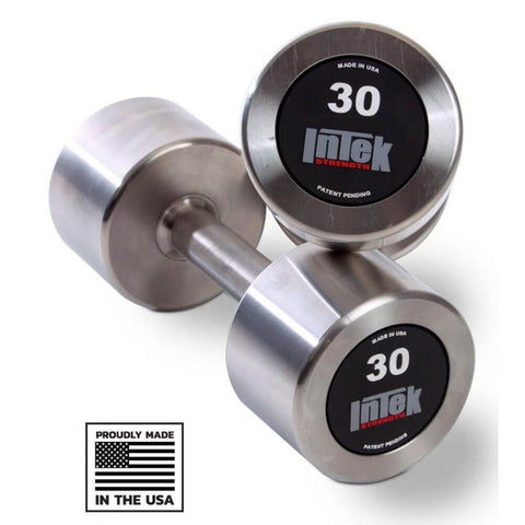 Image of Intek Strength Delta Series Stainless Steel Dumbbells - Made in USA