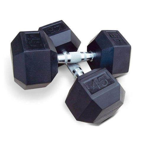 Intek Strength Rubber Hex Dumbbell Sets