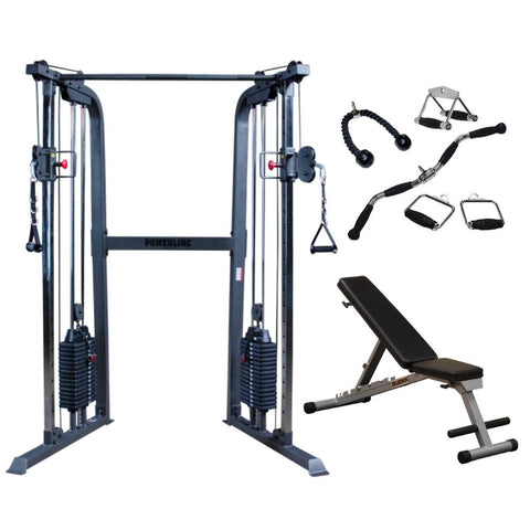 Powerline by Body-Solid PFT100 Functional Trainer Gym Package
