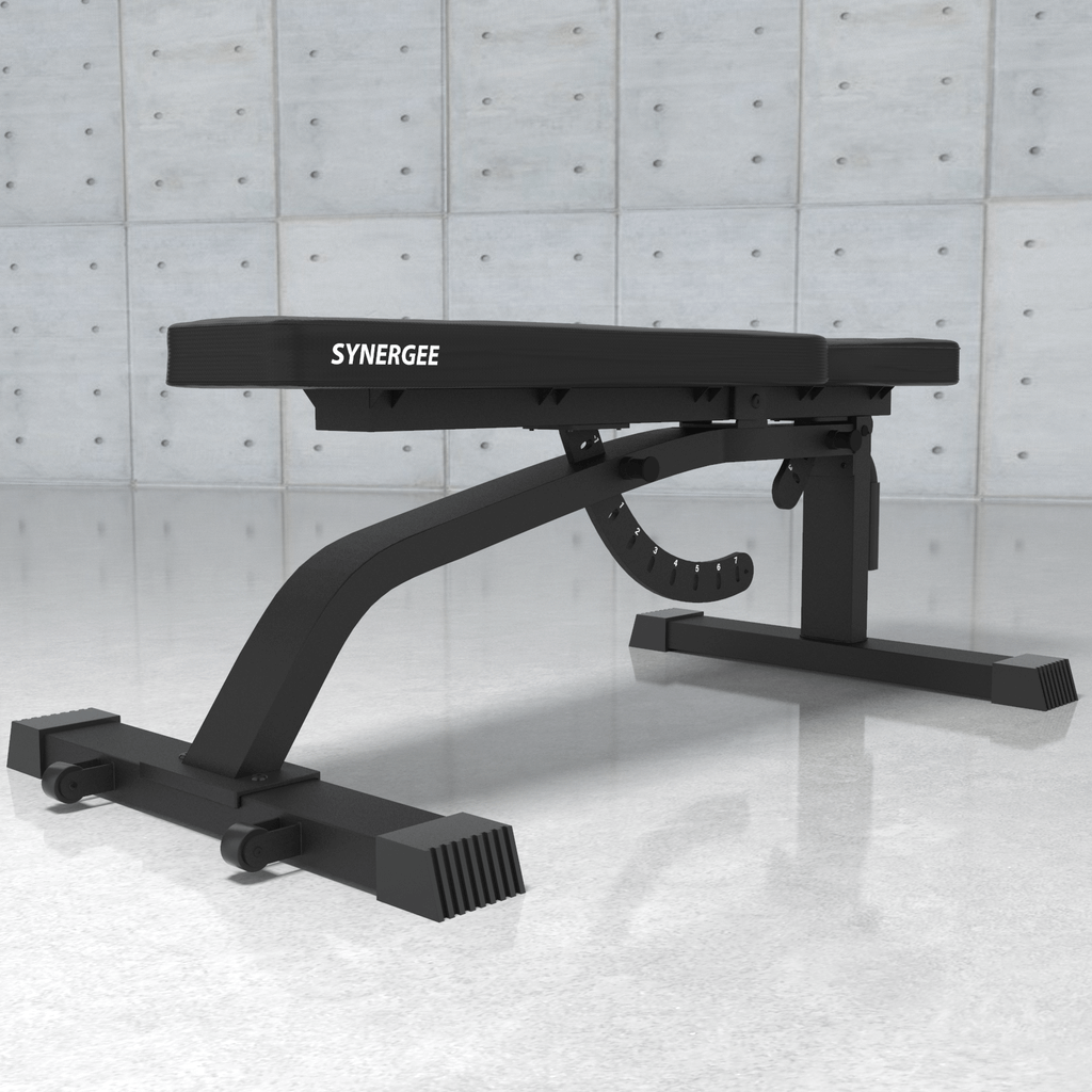 Synergee Adjustable FID Workout Bench Angle View