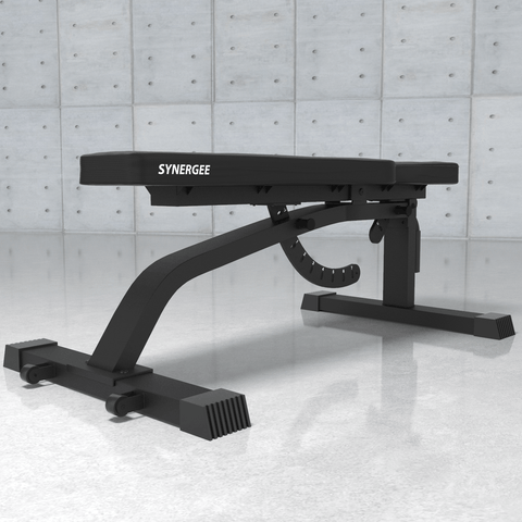 Image of Synergee Adjustable FID Workout Bench Angle View
