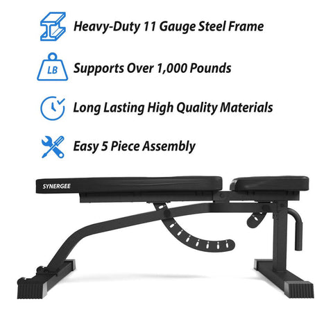 Image of Synergee Adjustable FID Workout Bench Reasons