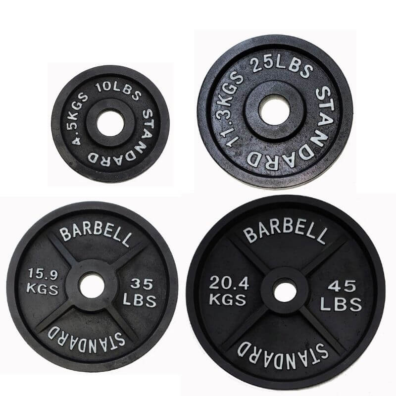 TDS 230lb Cast Iron Olympic Plate Set