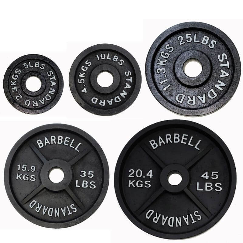 TDS Cast Iron Olympic Plates (Pairs)