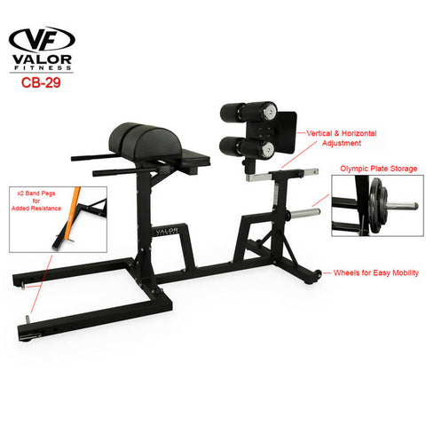 Valor Fitness Glute Ham Developer ValorPRO CB-29