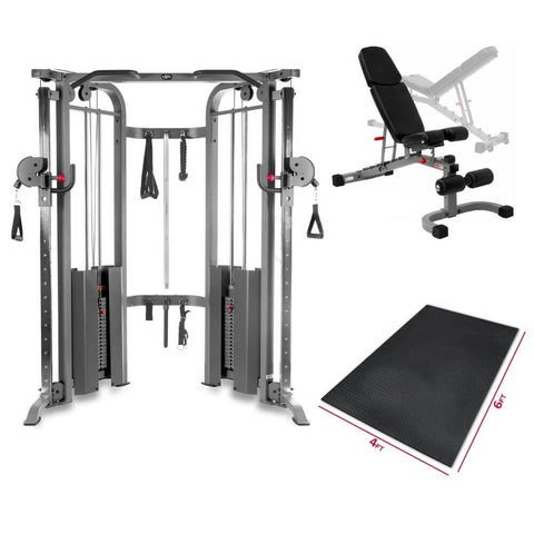 Image of XMark Fitness Functional Trainer Gym Package
