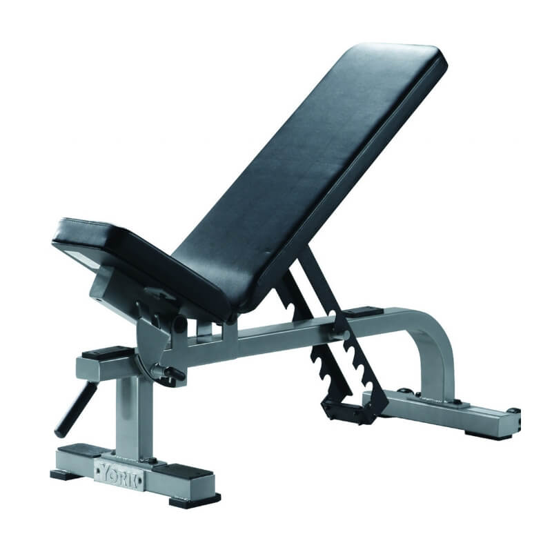 York Barbell STS Flat to Incline Bench Silver 55027