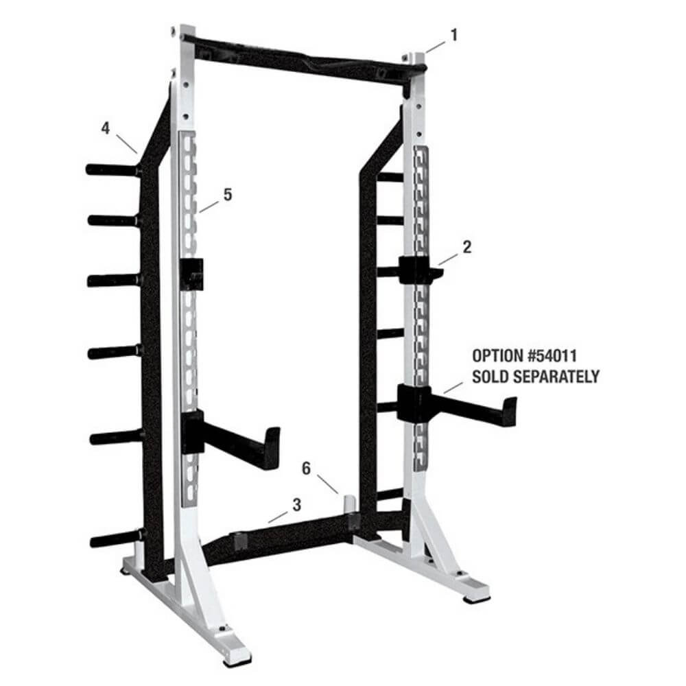 york barbell 54009 half rack Numbered