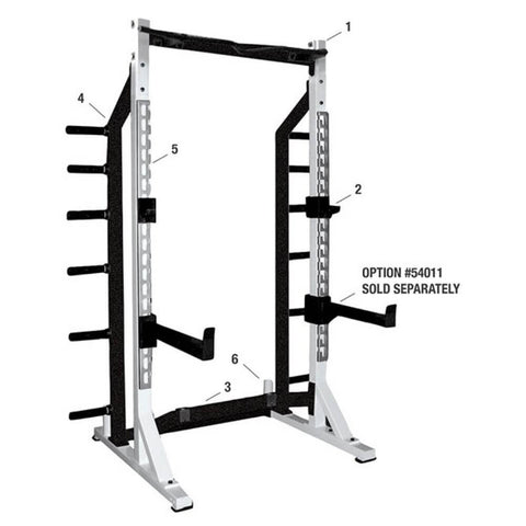 Image of york barbell 54009 half rack Numbered