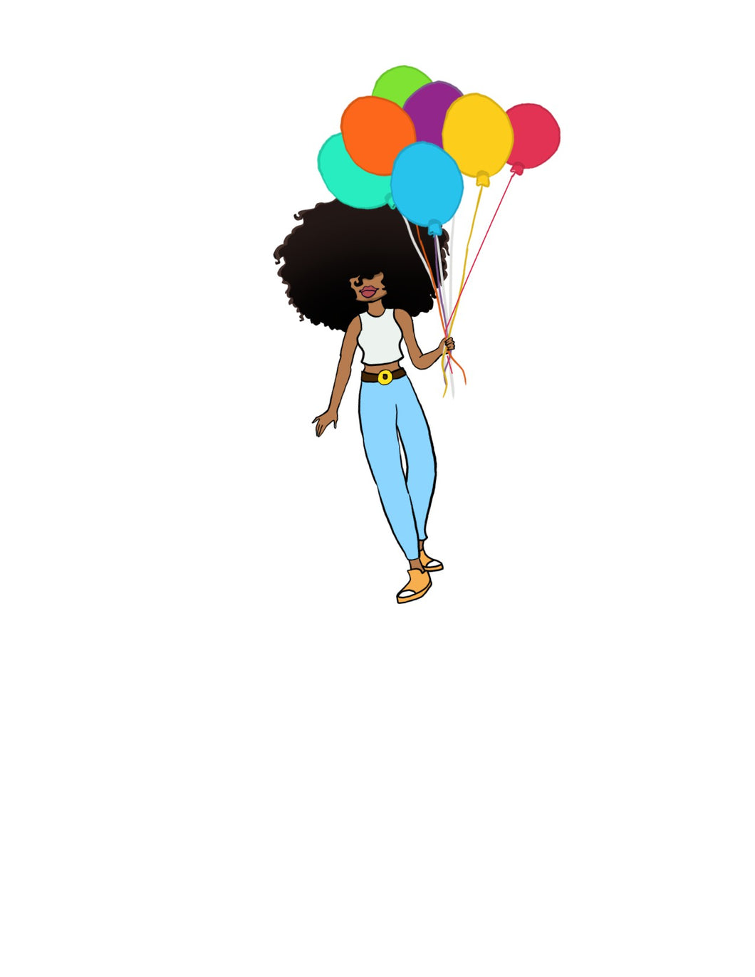 DIGITAL ITEM Big Hair with balloons