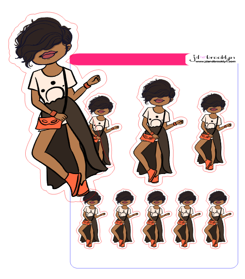 Bella Styling Sticker Sheet or Die Cuts