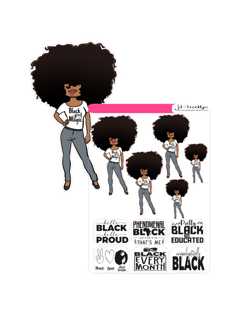 Big Hair Doll Black Girl Magic
