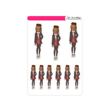 Braids hairstyle doll - Fall/Winter Fashion Sticker sheet or die cuts.