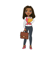 DIGITAL ITEM Business lady standing with briefcase