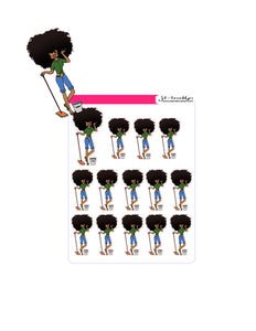 Big Hair Doll Series 2: Cleaning Sticker sheet or die cuts