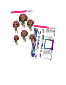 Fairy Chibi Doll sticker kit