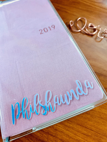 Hobonichi Weeks Holographic vinyl name decal