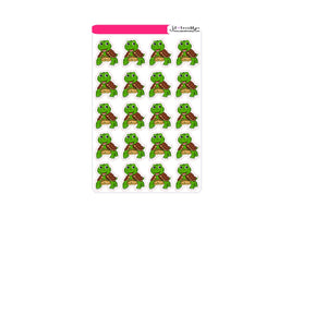 Cute animal: Turtle sticker sheets or die cuts